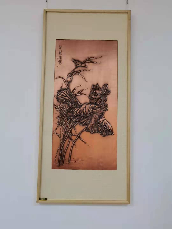 紫铜锻錾壁画